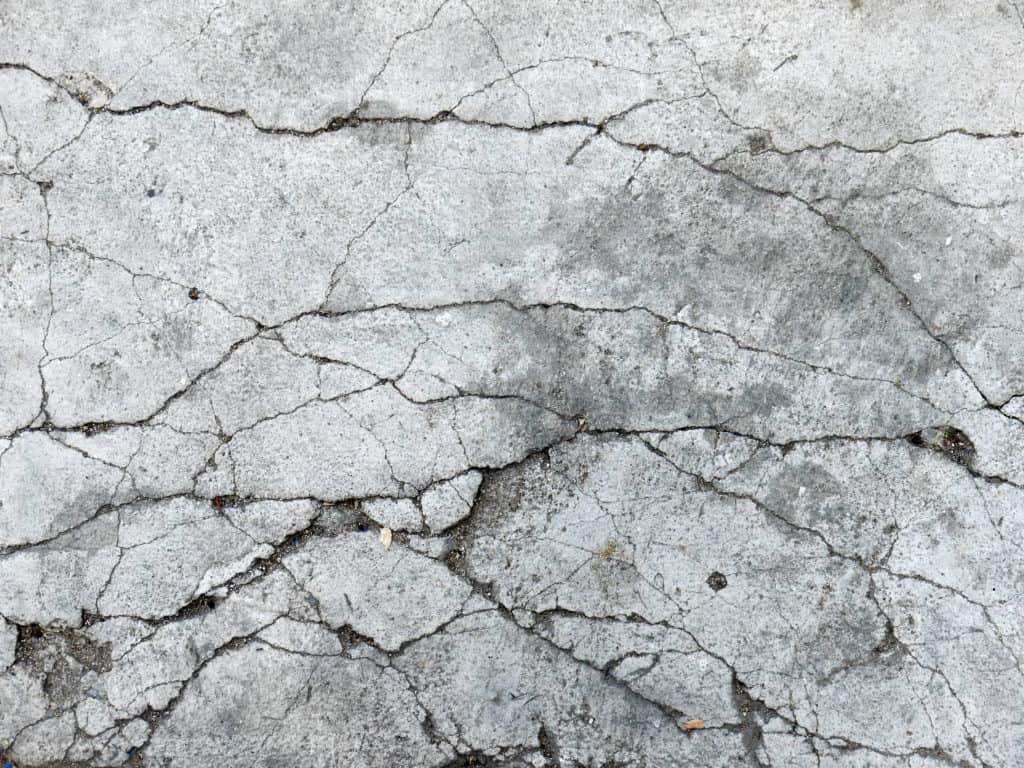 repairing cracked concrete