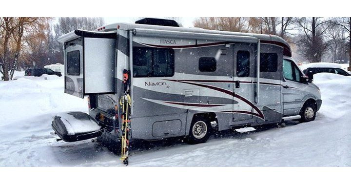 RV in Snow