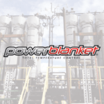 Powerblanket logo over photo of our custom heating solution