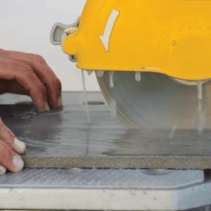 Winter Tile Cutting
